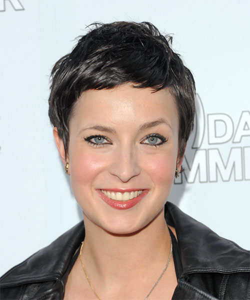 Diablo Cody Short Straight Hairstyle - Black