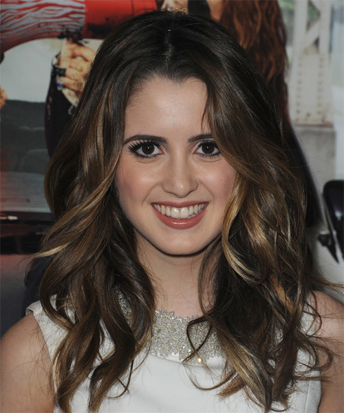 Laura Marano Long Wavy Casual Hairstyle - Dark Brunette (Chestnut) Hair Color