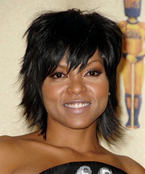 Taraji.P. Henson - Casual Short Straight Hairstyle