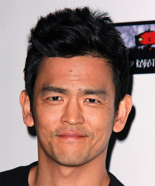 John Cho Short Straight Casual