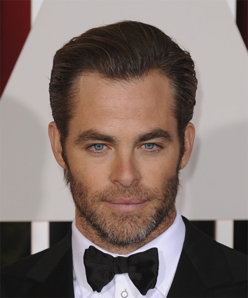 Chris Pine Short Straight Formal Hairstyle (Mocha)