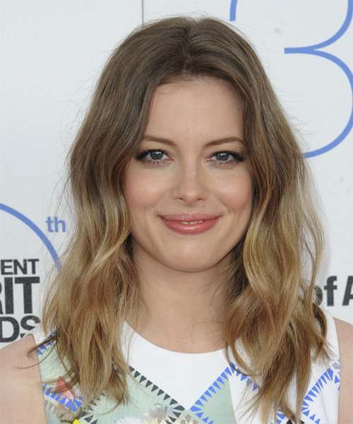 Gillian Jacobs Long Wavy Casual Hairstyle - Light Brunette Hair Color