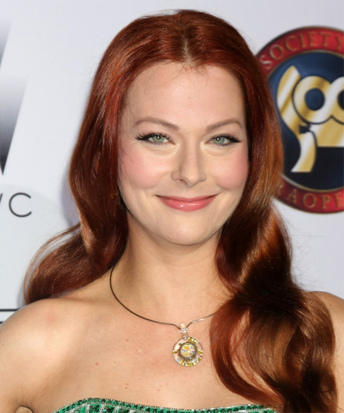 Anna Easteden Long Wavy Formal Hairstyle - Medium Red Hair Color