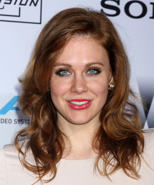 Maitland Ward Long Wavy Casual Hairstyle - Medium Brunette Hair Color