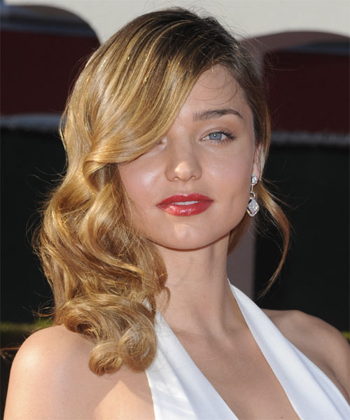 Miranda Kerr Long Wavy Formal Hairstyle