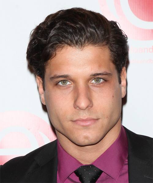 Cody Calafiore Short Wavy Formal Hairstyle - Dark Brunette Hair Color