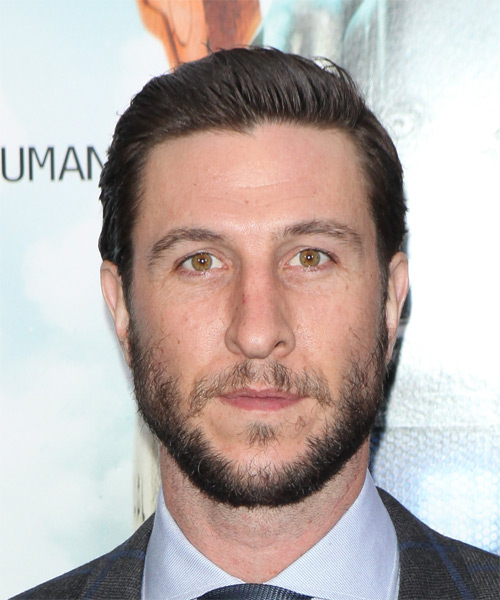 Pablo Schreiber Short Straight Formal Hairstyle - Medium Brunette (Ash) Hair Color
