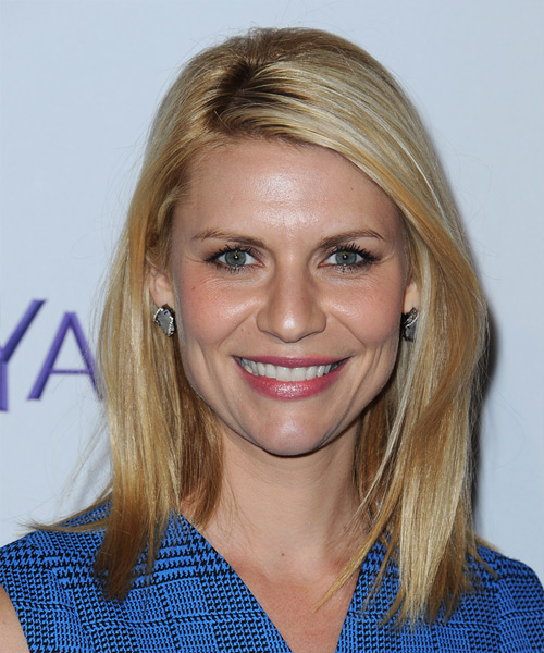 Claire Danes Medium Straight Blonde Hairstyle.