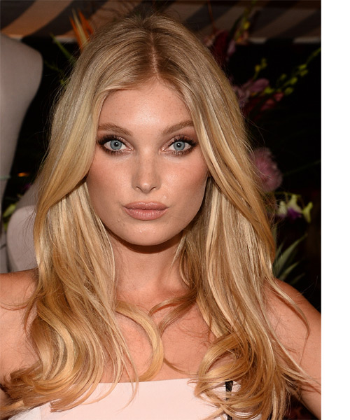 Elsa Hosk Long Straight Casual Hairstyle - Medium Blonde (Honey) Hair Color