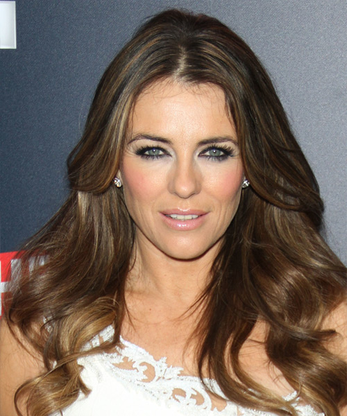 Elizabeth Hurley Long Wavy Casual  - Medium Brunette