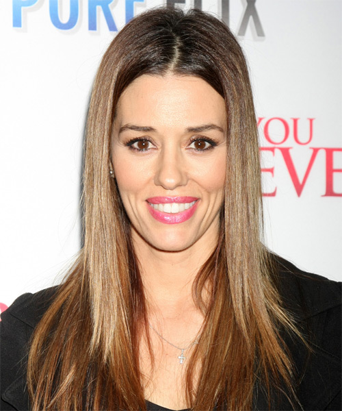 Cory Oliver Long Straight Casual Hairstyle - Medium Brunette Hair Color
