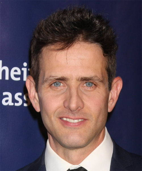 Joey McIntyre Short Straight Casual  - Dark Brunette