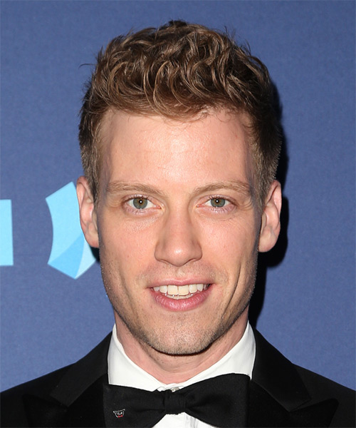Barrett Foa Short Wavy Formal Hairstyle - Light Brunette (Auburn) Hair Color