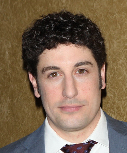 Jason Biggs Short Curly Casual  - Dark Brunette
