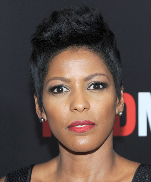Tamron Hall Short Straight Casual Hairstyle (Ash)