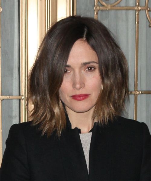 Rose Byrne Medium Straight Casual Hairstyle - Medium Brunette Hair Color