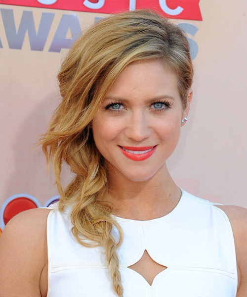 Brittany Snow Long Straight Casual Half Up Hairstyle - Medium Blonde (Golden) Hair Color