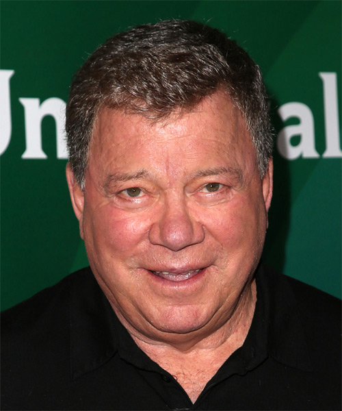 William Shatner Short Straight Casual Hairstyle - Medium Brunette Hair Color