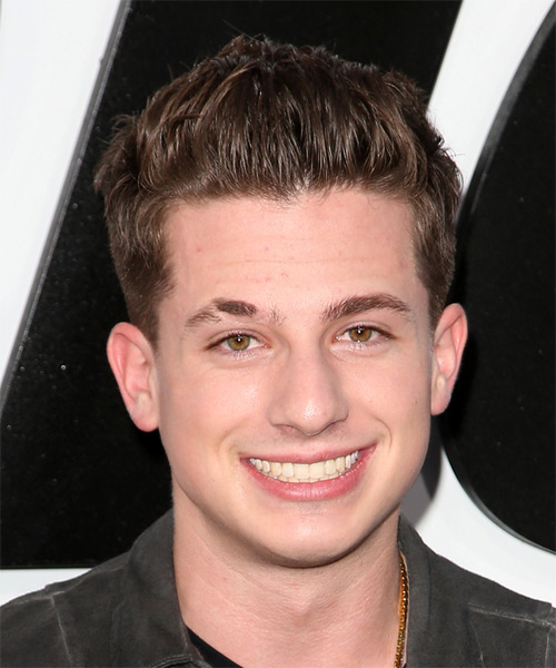 Charlie Puth Short Straight Casual  - Medium Brunette
