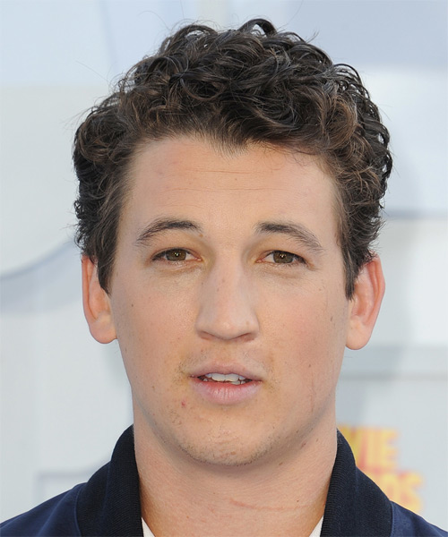 MilesTeller Short Curly Casual Hairstyle