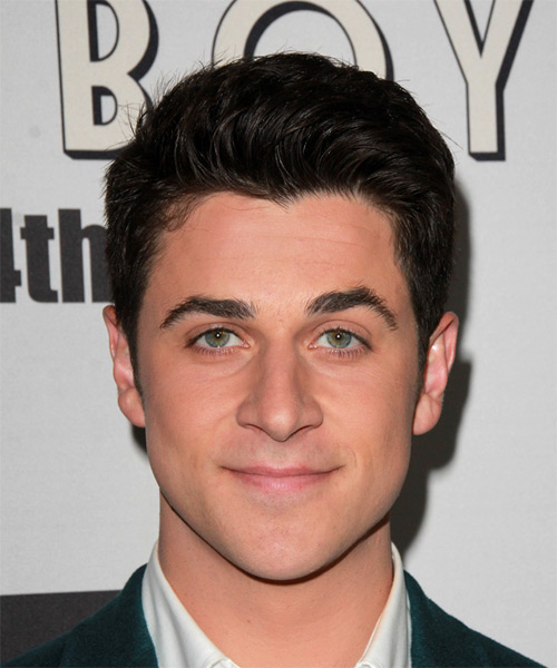 David Henrie Short Straight Formal Hairstyle - Dark Brunette Hair Color