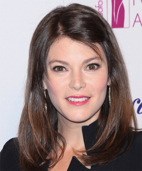 Gail Simmons Long Straight Casual Hairstyle - Medium Brunette (Chocolate) Hair Color