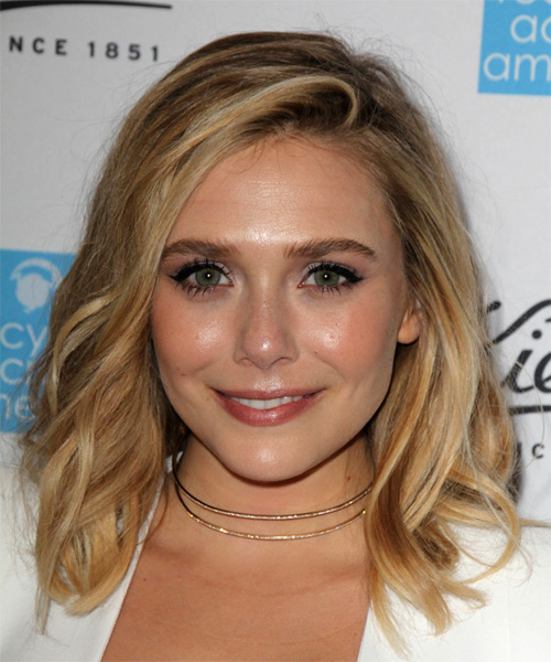 Elizabeth Olsen Medium Wavy Casual Hairstyle - Dark Blonde Hair Color