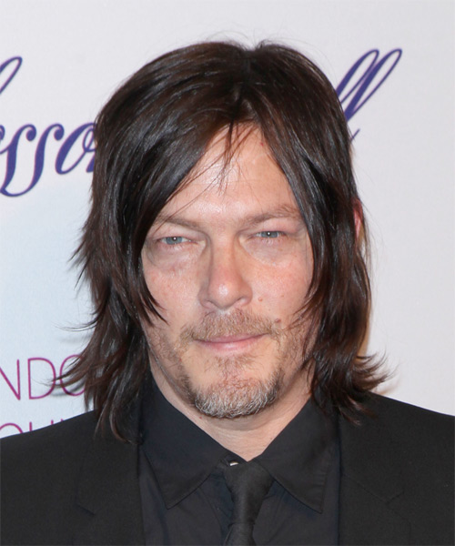 Norman Reedus Medium Straight Casual