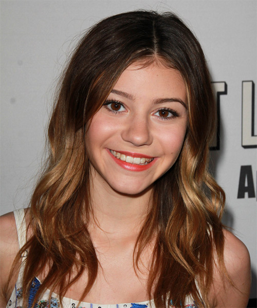 G Hannelius Long Wavy Casual Hairstyle