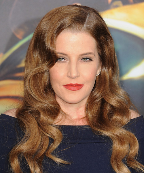 Lisa Marie Presley Long Wavy Formal