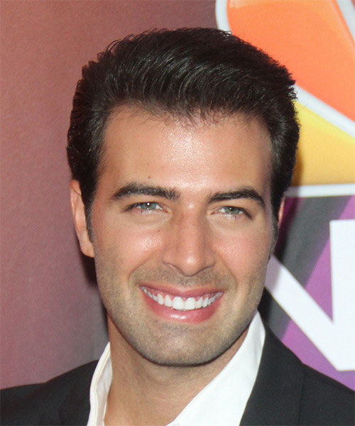 Jencarlos Canela Short Straight Formal Hairstyle - Dark Brunette Hair Color