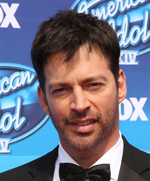 Harry Connick Jr Short Straight Casual Hairstyle (Mocha)
