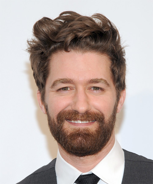 Matthew Morrison Short Wavy Casual Hairstyle - Medium Brunette (Chestnut) Hair Color