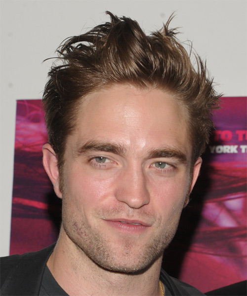 Robert Pattinson Short Straight Casual Hairstyle - Medium Brunette (Chestnut) Hair Color
