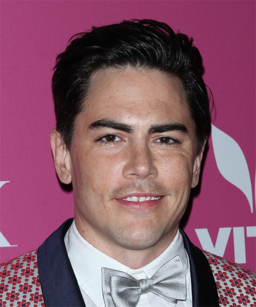 Tom Sandoval Short Straight Casual Hairstyle - Black Hair Color