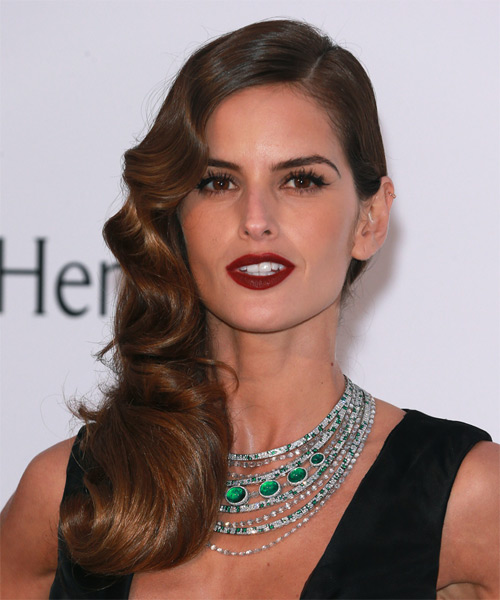 Izabel Goulart Long Wavy Formal  - Medium Brunette