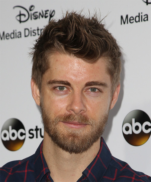Luke Mitchell Short Straight Casual Hairstyle - Medium Brunette Hair Color