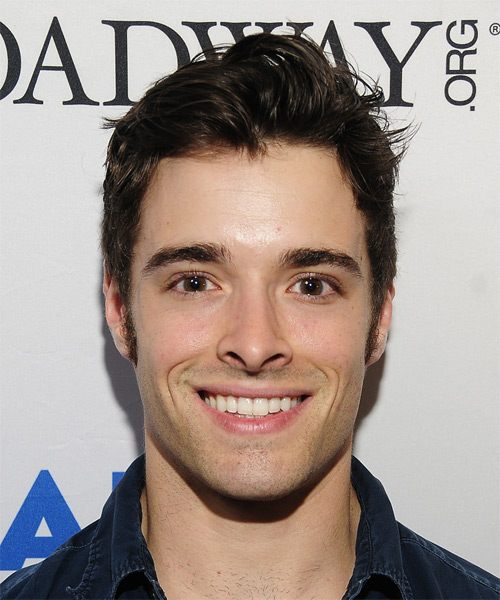 Corey Cott Short Straight Casual Hairstyle - Dark Brunette Hair Color