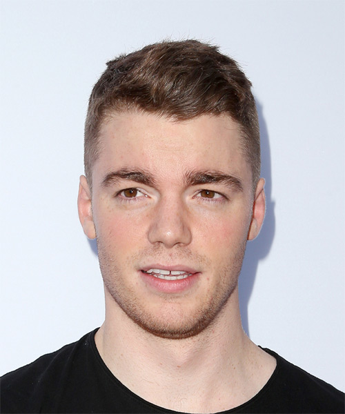 Gabriel Basso Short Straight Casual Hairstyle - Light Brunette Hair Color