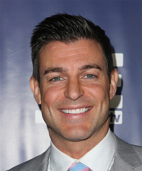 Jeff Schroeder Short Straight Formal Hairstyle - Dark Brunette Hair Color