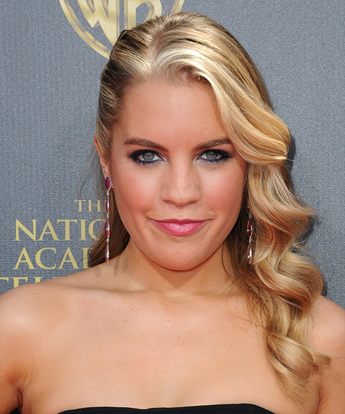 Kristen Alderson Long Wavy Formal Hairstyle - Medium Blonde (Golden) Hair Color