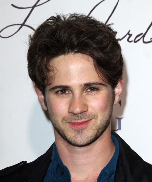 Connor Paolo Short Wavy Casual Hairstyle - Dark Brunette Hair Color