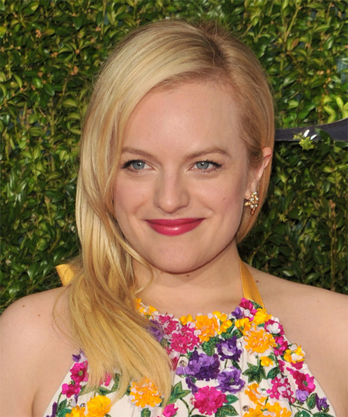 Elisabeth Moss Long Straight Casual Hairstyle - Medium Blonde (Golden) Hair Color