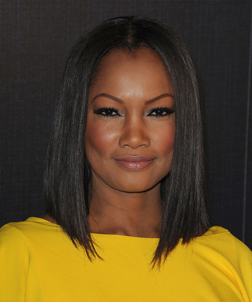 Garcelle Beauvais Medium Straight Formal Bob - Black
