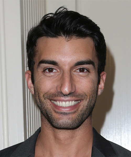 Justin Baldoni Short Straight Casual Hairstyle - Black (Ash) Hair Color