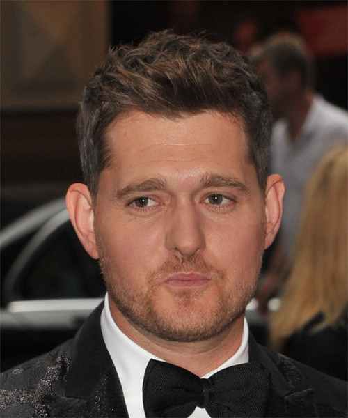 Michael Buble  Short Straight Casual Hairstyle - Medium Brunette Hair Color