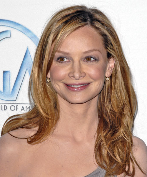 Calista Flockhart Long Wavy Hairstyle