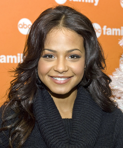 Christina Milian - Casual Long Wavy Hairstyle