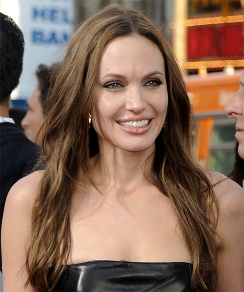 Angelina Jolie Long Straight Casual