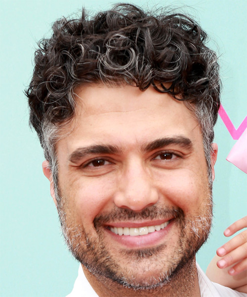 Jaime Camil Short Curly Casual Hairstyle - Dark Grey Hair Color